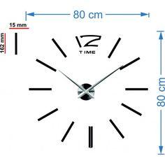 Najszerszy zakres godzin w różnych kolorach dla doskonałego ściany. Eleganckie godzin kleju. Zegar ścienny na ścianie są wyposażone w wysokiej jakości maszyn do naładowania baterii AA 1,5 V, który charakteryzuje się niskim poziomem szumów. Ruchy pojemnika i wskazówki zegara są wykonane z litej stali, które są po prostu montowane do ściany. Instalacja jest bardzo prosta i staną hobby każda gospodyni. Pozostałe składniki w postaci liczb wystarczającej trzymać na ścianie, ponieważ są… Clock, Wall, Watch, Clocks