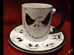 I made this Pinterest success! Mismatched ceramic from Goodwill + sharpie + 30 minutes in the oven at 350 + refresh sharpie + redo bake = Jack Skellington mug and saucer! Happy Nightmare Before Christmas! (P.S. Pencil washes off after being baked, therefore serves as a great draft.) Update: RRRRGGH! The sharpie STILL rubs off. Enamel paint next time. ~ET