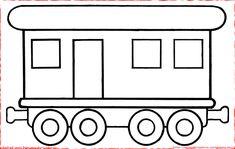 Wagon avec fenêtres et porte... à colorier
