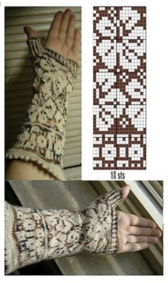 Ravelry: some's Stranded samples by ivy Knitted Mittens Pattern, Fair Isle Knitting Patterns, Fingerless Gloves Knitted, Knitting Charts, Knit Mittens, Weaving Patterns, Knitting Stitches, Knitting Designs, Knitting Yarn