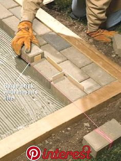 How to Lay a Mortared Brick Patio A beautiful patio is within your reach. With our help, you'll learn where and how to start laying bricks for a mortared brick patio. Concrete Patios, Brick Paver Patio, Brick Garden, Brick Patios, Garden Paths, Brick Walkway Diy, Flagstone Walkway, Cement Patio, Wood Patio