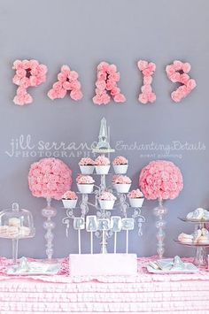 "Adorable little girl ""Paris"" themed party"