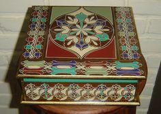 Caixa de chá,9 divisoes, em madeira/mdf. Estilo marroquino, desenhos exclusivos