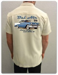 1956 Bel Air Men's Casual Car Shirt www.spokenwheelz.com  Ahhh, Cool!!! - KIm