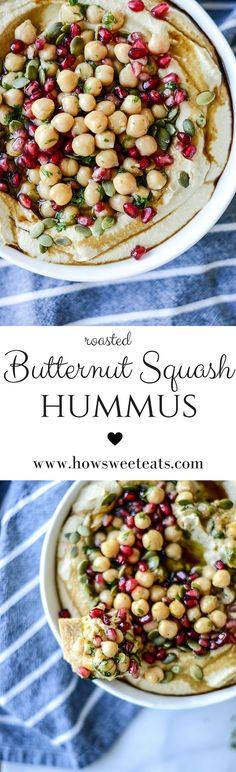 roasted butternut squash hummus I http://howsweeteats.com