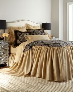 Shop luxury bedding sets and bedding collections at Horchow. Browse our incredible selection of full, queen, and king size luxury bedding sets. Luxury Duvet Covers, Bed Duvet Covers, Luxury Bedding Sets, Luxe Life, Bedding Collections, Home Textile, Linen Bedding, Master Bedroom, Interior Design