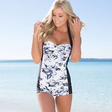 Ladies Swimwear One Piece Boyleg Swimsuit.