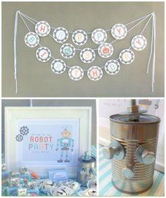 Robot Birthday Party #Robot #BoysPartyIdeas #Kids