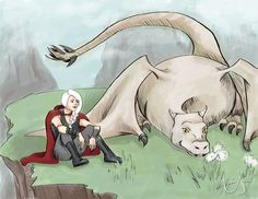 Manon and Abraxos by whoevenknowsman on DeviantArt