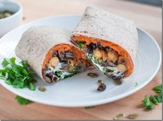 Sweet potato black bean wrap (leave out sour cream for df option and use rice or corn wrap for gf)