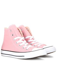 Converse - Chuck Taylor All Star high-top sneakers - The classic high-top silhouette is finished in pastel pink, making these an essential for off-duty style, paired with skinnies or easy dresses. seen @ www.mytheresa.com