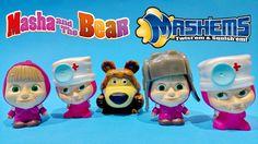 Masha and the Bear Toys Mashems Series 1 Super Squishy Toys Video ★ Маша...