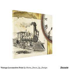 Vintage Locomotive Print