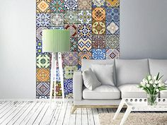 Papier Peint Magic Of Colours - Taille : cm 3d Wallpaper Mural, Orange Wallpaper, Wallpaper Panels, Wallpaper Roll, Mosaic Wallpaper, 3d Design, Xxl Poster, Standard Wallpaper, Embossed Wallpaper