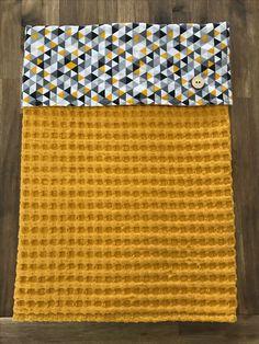 Wieg, mozesmandje of ledikant deken.  Grote wafel! 60cm x 75cm