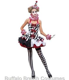 Harlequin Clown Costume for Rent/Buy   Buffalo Breath Costume Co