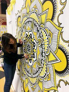 Mandala Artwork by Phlox Mandala Art Lesson, Mandala Artwork, Mandala Drawing, Mandala Painting, Wall Painting Decor, Mural Wall Art, Hand Painting Art, Artwork Design, Design Art