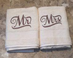 Mr and Mrs Wedding Gift Mr and Mrs Hand by SewWonderfullyMade4U