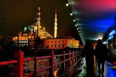 yeni camii mosque from galata brige by Aylin Kinacioglu on 500px