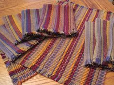 Not 2 Square Weavers: sue habegger - Simply amazing.  Placemats and napkins on the same warp!  Placemats woven first and then the napkins woven in double weave at half the sett.  Crazy smart.