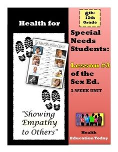 """Sex Ed. For Special Needs Students: Lesson #3 of 10 - I feel so blessed that my """"Best Health Curriculum"""" has touched the lives of thousands of students…After many teacher requests for a """"Special Ed."""" version, here it is!! This is lesson #2 of my """"3-Week Sex Ed. Unit for Special Needs Students,"""" which you can find at: https://www.teacherspayteachers.com/Product/Health-for-Special-Needs-Students-3-Week-Sex-Ed-Unit-1767085"""