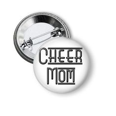 Newly listed product in our store 2.25 Inch Button ... available on our website http://nannygoatscloset.myshopify.com/products/cheer-mom-button-pins?utm_campaign=social_autopilot&utm_source=pin&utm_medium=pin