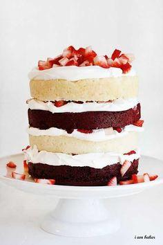 Red Velvet Strawberry Shortcake | 27 Red Velvet Desserts That Want To Be Your Valentine