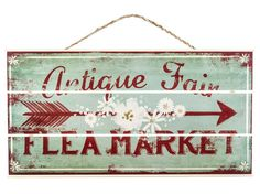 Antique Fair Flea Market Sign - Hobby Lobby