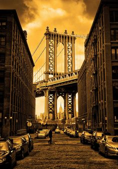 """Manhattan Bridge Brooklyn NYC"" from Stephen Nicholas Wilson's Flickr page http://www.flickr.com/photos/stephennicholaswilson/"