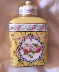 Vintage limoges porcelain tea caddy | eBay