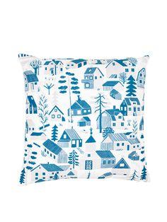Pattern design by Björn Rune Lie Blue Cushion Covers, Blue Cushions, Runes, Pattern Design, Throw Pillows, Quilts, Blanket, Finland, Cotton