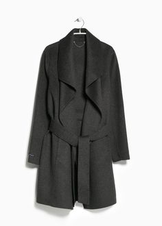 MINIMAL + CLASSIC: Wraparound wool-blend coat