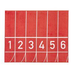 SPRINGA Dywan z krótkim włosiem, czerwony czerwony 133x160 cm