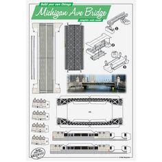 Build Your Own Michigan Avenue Bridge Postcard