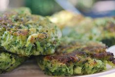 Broccoli Parmesan Fritters