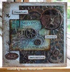 Hazel's Creative Moments: Steampunk Card