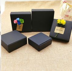 30pcs Black Carton Kraft Paper candy Box,small black cardboard  paper packaging box,Craft Gift Handmade Soap Packaging box