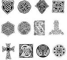 Simbolos Celtas Plantillas De Tatuajes Iconos E Indices