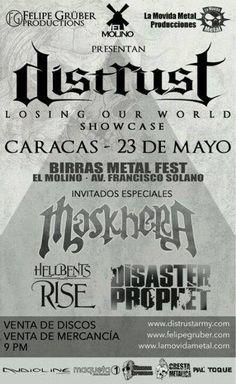 """Cresta Metálica Producciones » El Molino presenta: """"Distrust: ShowCase Losing Out World"""" (Caracas) // 23 Mayo 2015"""