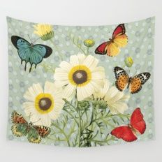 Fly Butterflies Wall Tapestry