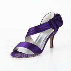 Wedding Shoes - $49.99 - Women's Satin Spool Heel Sandals With Bowknot Satin Flower (047029878) http://jjshouse.com/Women-S-Satin-Spool-Heel-Sandals-With-Bowknot-Satin-Flower-047029878-g29878/?utm_source=crtrem&utm_campaign=crtrem_US_28011&utm_content=newsfeed