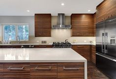 Kitchen makeover in mid-century home...i like the cabinets