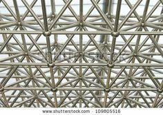 Metal Truss construction    stock photo : steel truss