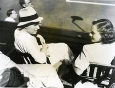 Charlie & Paulette at a tennis match, 1934