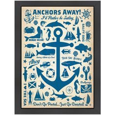 Anchors Away Framed Print