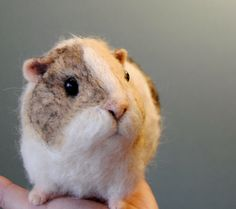 Needle Felted Guinea Pig, Handmade animal, Custom Made Pet Portrait - made to order by willane on Etsy https://www.etsy.com/listing/229046491/needle-felted-guinea-pig-handmade-animal