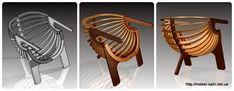 Скачать чертежи - Стулья кресла - Кресло ракушка из фанеры от Wilhelm Coetzer