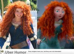 The woman playing Merida at Disney World - Really Funny Pictures - http://www.onlineatlantic.com/the-woman-playing-merida-at-disney-world-really-funny-pictures/