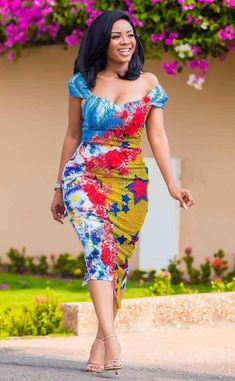 serwaa amihere african outfit By Diyanu Short African Dresses, Ankara Short Gown Styles, Latest African Fashion Dresses, African Print Dresses, African Print Fashion, African Prints, Office Outfits Women, 30 Outfits, African Attire