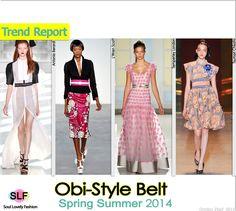 Obi-Style Belt #FashionTrend for Spring Summer 2014 #fashion2014 #spring2014 #trends #belt